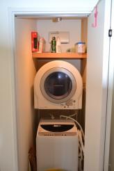 隠れる洗濯機置き場